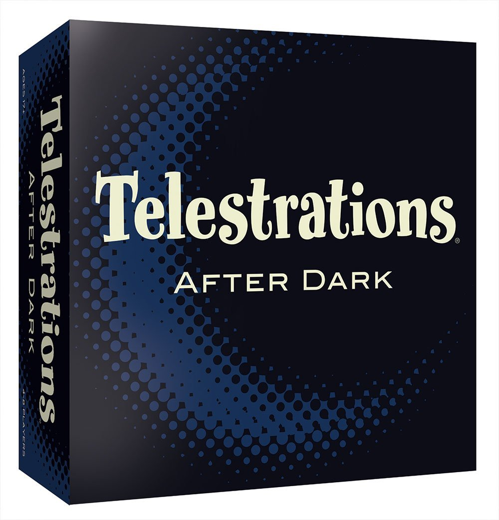 Telestrations After Dark Board Game, Chess Cornhole Word Night Friends Lawn Ouija Glow Bright Made Cranium... by