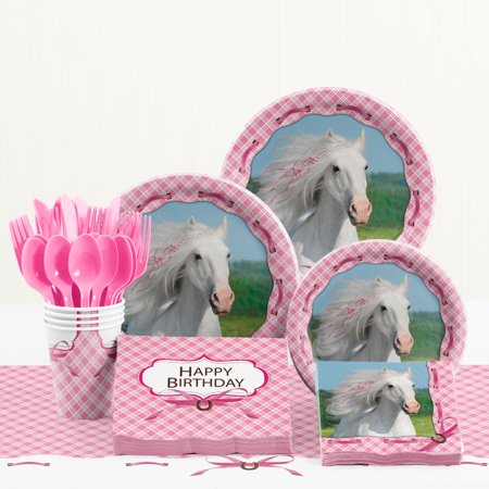 Heart My Horse Birthday Party Supplies Kit - Horse Birthday