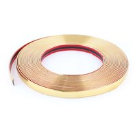 15M Length Gold Tone Flexible Plastic Moulding Trim Strip Oranment for Car