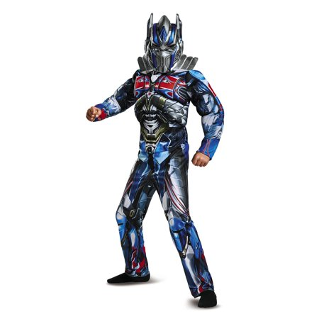 Transformers optimus prime muscle child halloween costume S (4-6)](Transformer Costume Adult)