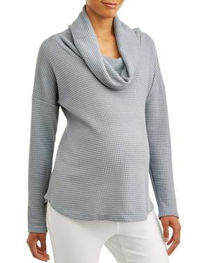 Concept Maternity Women's Long Sleeve Cowl Neck Top