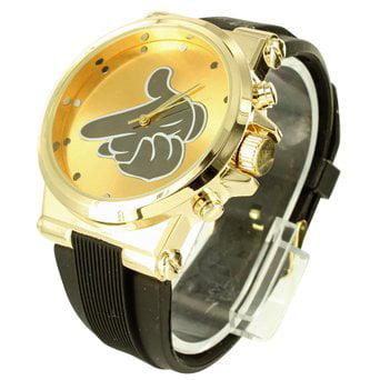 Designer Yellow Finish Techno Pave Hand Shooting Classy Mens Ladies Wristwatch