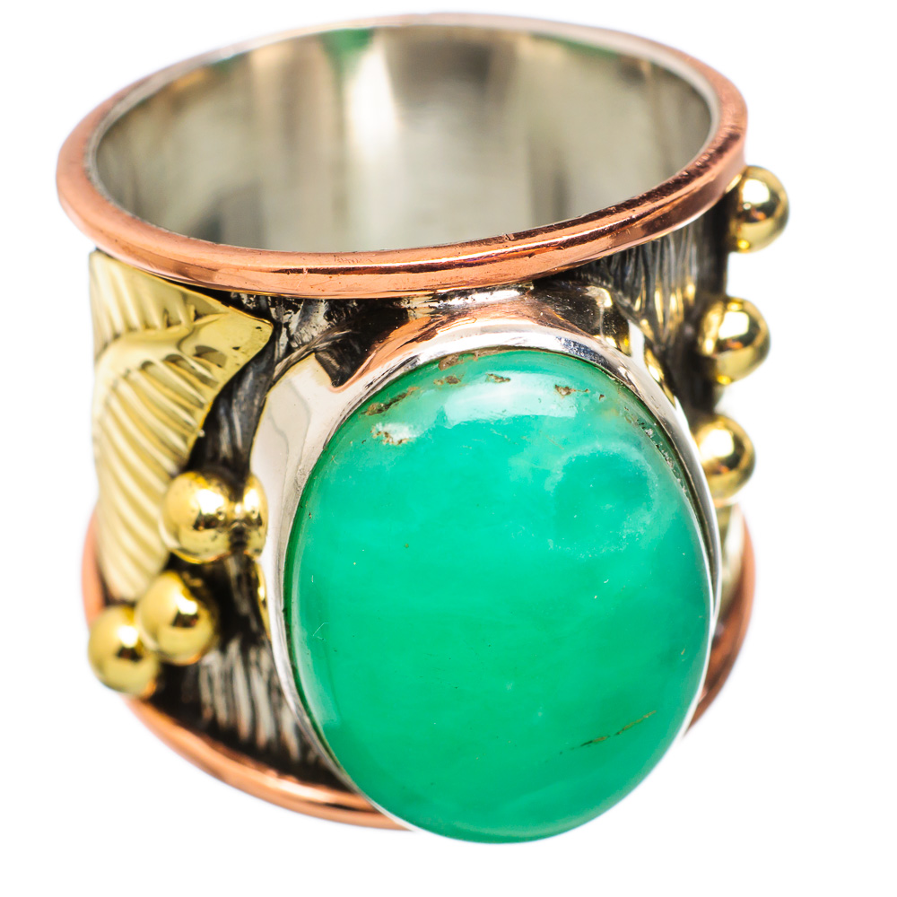 Ana Silver Co Large Chrysoprase 925 Sterling Silver Ring Size 8.75 RING834308 by Ana Silver Co.