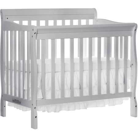 Dream On Me Aden 4 In 1 Convertible Mini Crib Mystic Gray