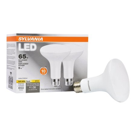 Sylvania BR30 LED Light Bulbs, 9W (65W Equivalent), Dimmable, Soft White,