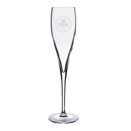 Shamrock Celtic Logo Luigi Bormioli 6 oz Titanium Toast Glass ()