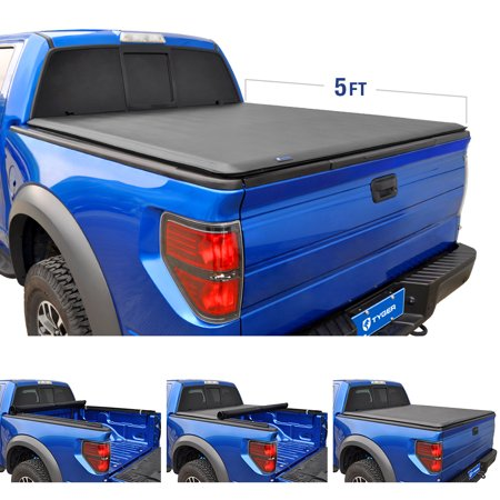 Tyger Auto T1 Roll Up Truck Tonneau Cover TG-BC1T9044 Works with 2016-2018 Toyota Tacoma | Fleetside 5' Bed | for Models with or Without The Deckrail System (Tonneau Cover Toyota Tacoma 2015)