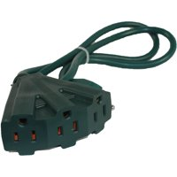 MaxWorks 80697 Heavy Duty Indoor/Outdoor Triple Tap 2 Ft. Extension Cord with Lighted Female End-16 AWG/3C-ETL Approved