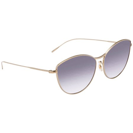 Oliver Peoples Rayette Taupe Gradient Flash Mirror Cat Eye Ladies Sunglasses OV1232S 503519 60 ()