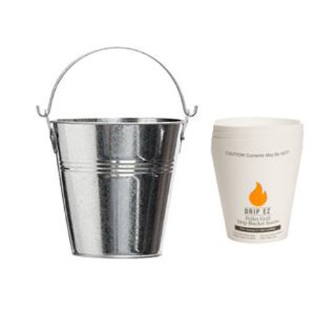 Pellet Grill Grease Bucket With 3 Pack Drip EZ Liners