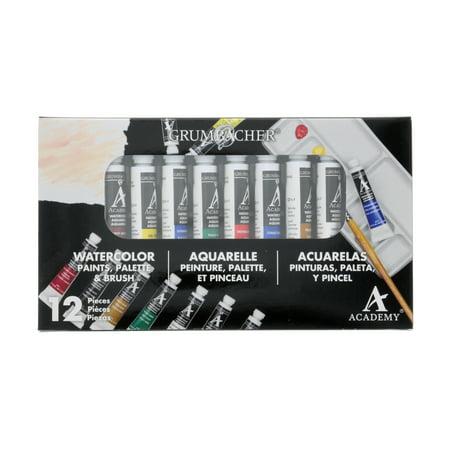 Grumbacher Academy Watercolor Set, 10-Colors - Grumbacher Watercolors