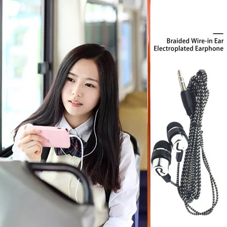 Braided Wiring Plating Headset Line K Song Mobile Phone Mp3 Headset Universal - image 3 of 8