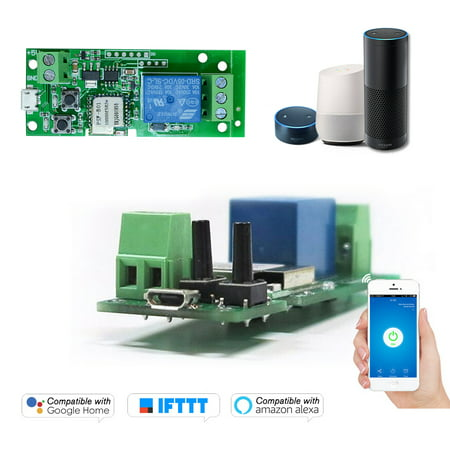 Sonoff USB DC5V Wifi Switch Wireless Relay Module Smart Home Automation Modules Phone APP Remote Control Timer Switch Alexa Google Home Voice Control for Access Control System Inching/Self-Locking Access Control Systems Llc