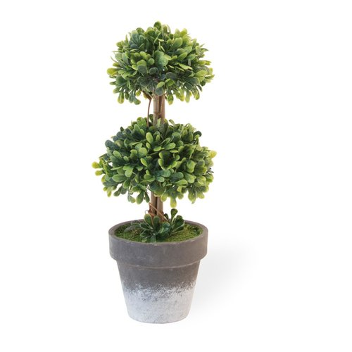 Charlton Home Two Ball Topiary in Pot (Set of 2)