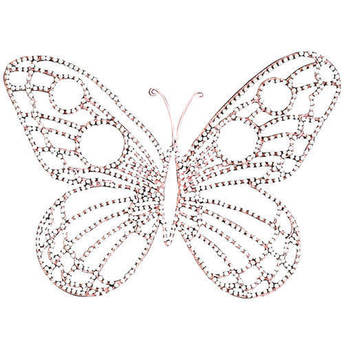 Jubilee Collection Medium Wire Beaded Butterfly Wall D cor (Set of 2)