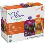 Plum Organics Stage 1 Organic Baby Food, Just Fruits Variety Pack, 3.5 Ounce Pouch (Pack of 8)