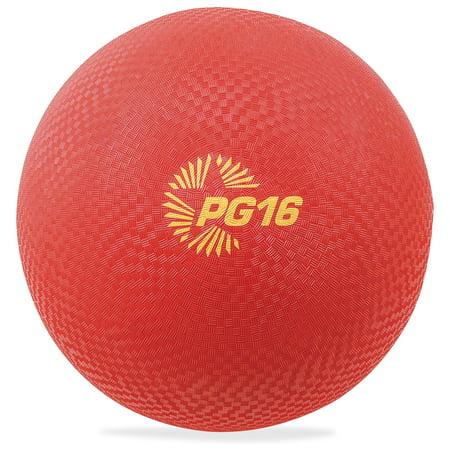 "Champion Sport Easy-grip Textured 16"" Playground Ball, Red"