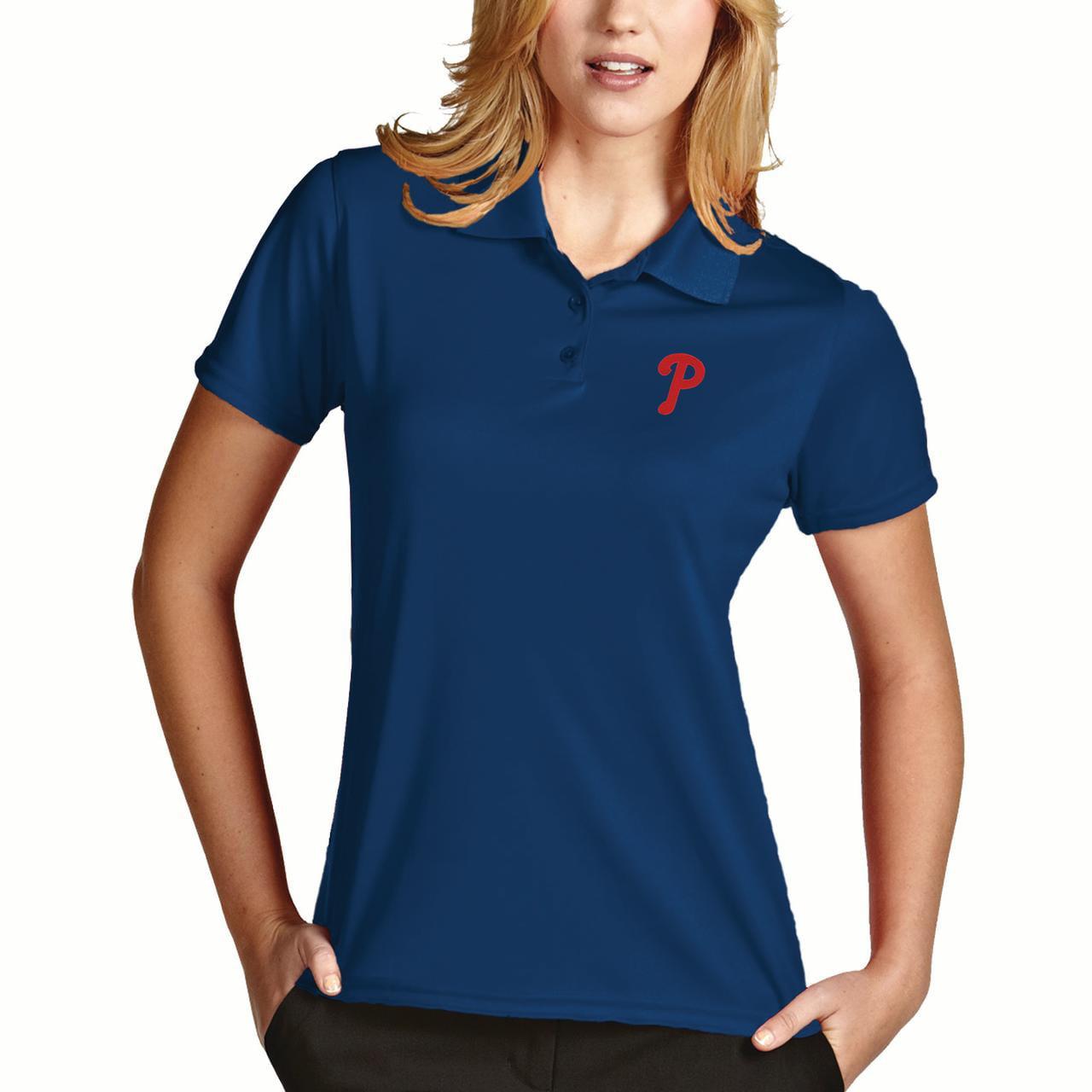 Philadelphia Phillies Antigua Women's Desert Dry Xtra-Lite Exceed Polo - Royal