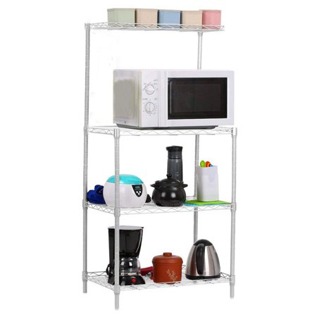 3-Tier Baker\'s Rack, Microwave Cart Oven Stand for Kitchen ...