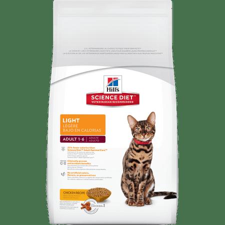 Hills Science Diet Adult Light Chicken Recipe Dry Cat Food 16 Lb