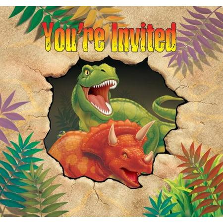 Access Dino Blast Invitation Card, 8 Ct (Dinosaur King Cards)