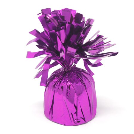 Foil Balloon Weight Party Decorations, 4-1/2-Inch, Purple - Purple Party Decorations