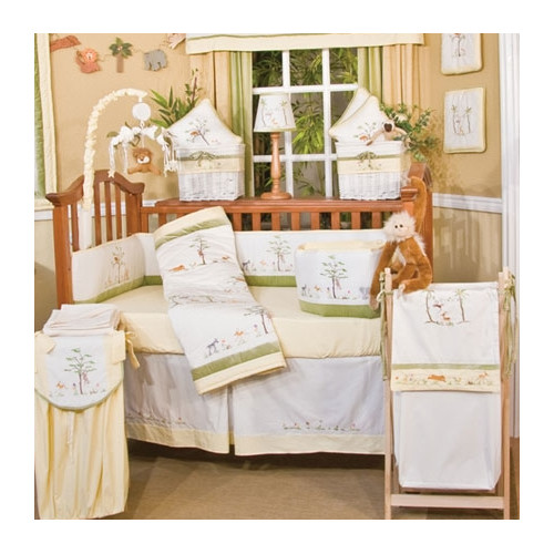 Brandee Danielle African Plains 4 Piece Crib Bedding Set