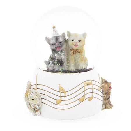 BestPysanky Singing Cats Party Snow Globe ()