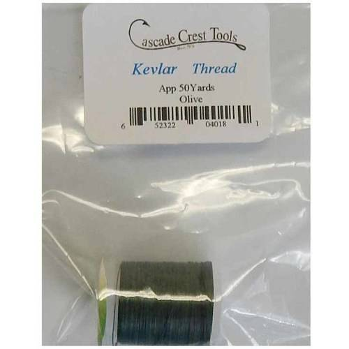 Cascade Crest Kevlar Thread, Black