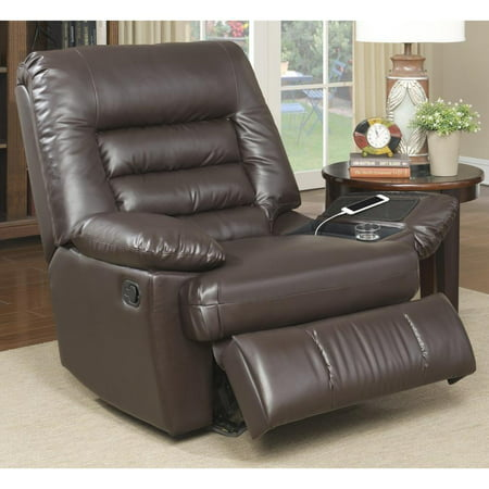 Serta Big & Tall Memory Foam Massage Recliner, Faux Leather, Multiple Color (Coja Reclining Recliner)