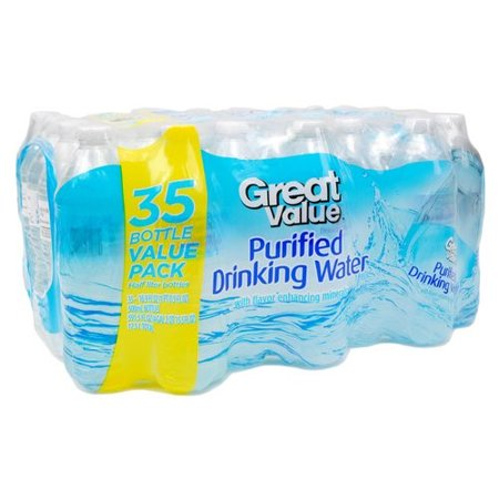 Great Value Purified Water, 16 9 Fl  Oz , 35 Count