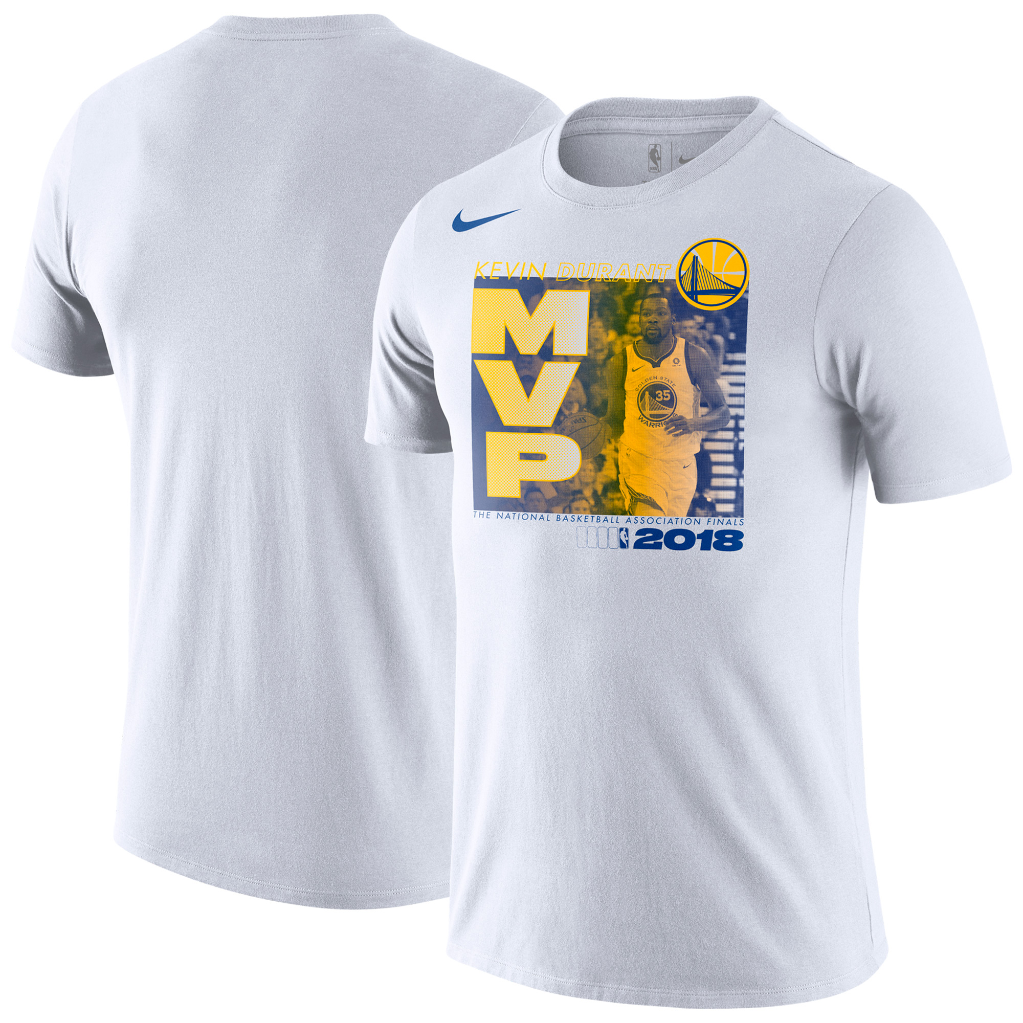 Kevin Durant Golden State Warriors Nike Youth 2018 NBA Finals Champions MVP Graphic T-Shirt - White