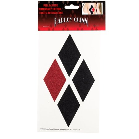 Harley Quinn Peel and Stick Temporary Arm Tattoo - Harley Quinn Tattoo
