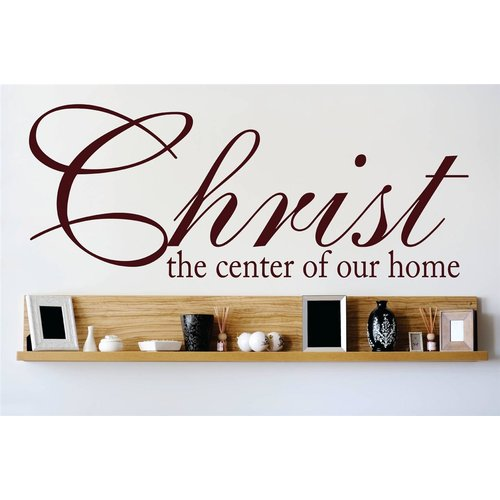 Design With Vinyl Christ the Center of Our Home Living Room Bedroom Wall Decal