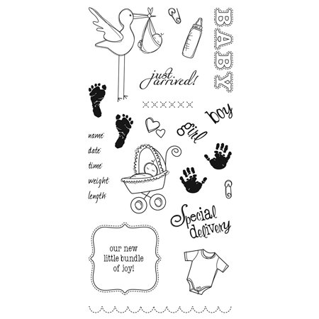 4x8 Inch Clear Stamp, Special Delivery, Ideal for adding distinctive stamped embellishments to handmade cards, scrapbook pages or other paper craft projects By Fiskars - Hand Stamped Halloween Cards