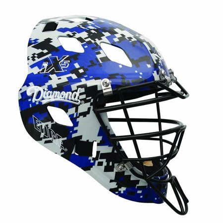Diamond DCH-Edge Pro Catcher's Helmet Small - Royal Camo