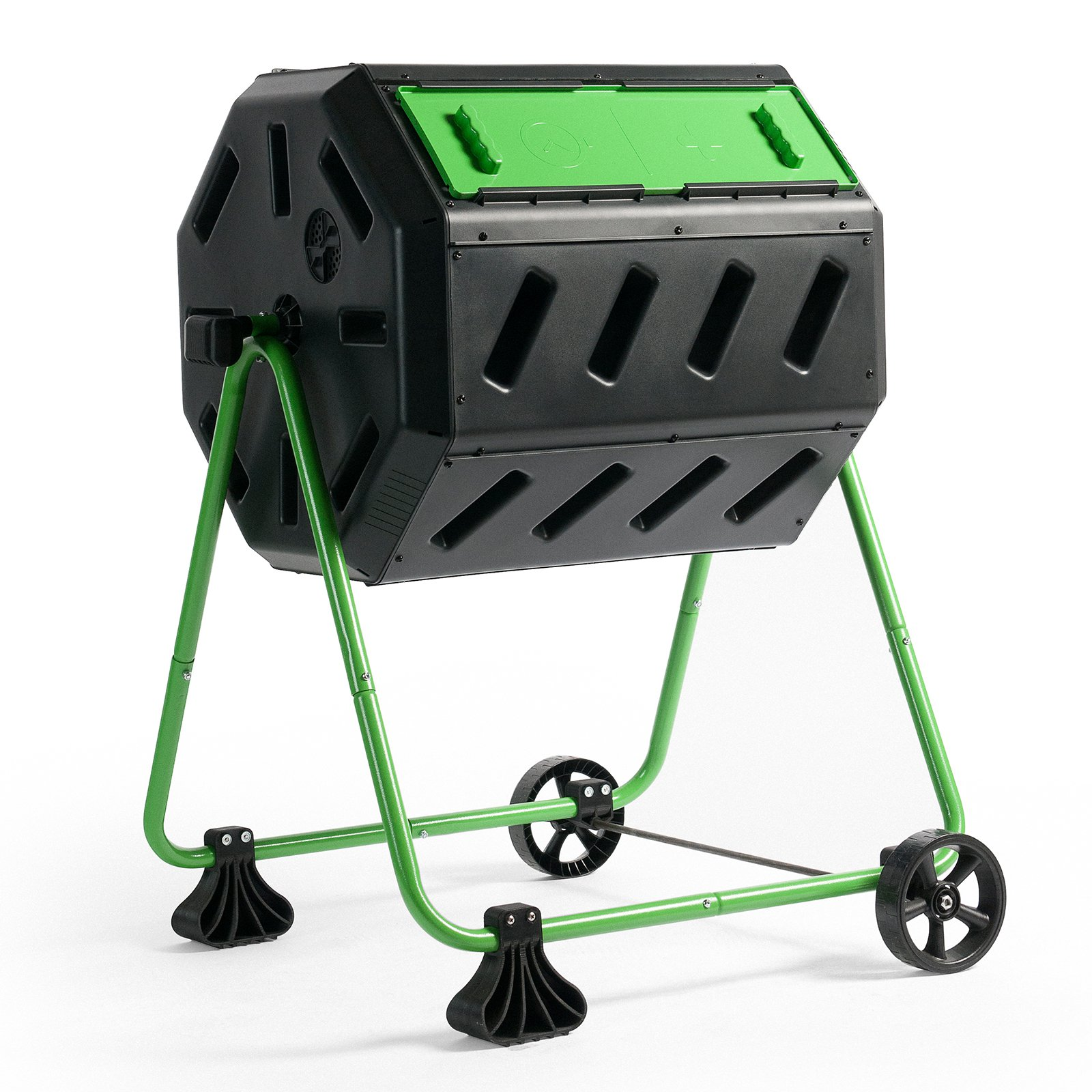 Hot Frog Mobile Dual-Chamber Compost Tumbler by Composters