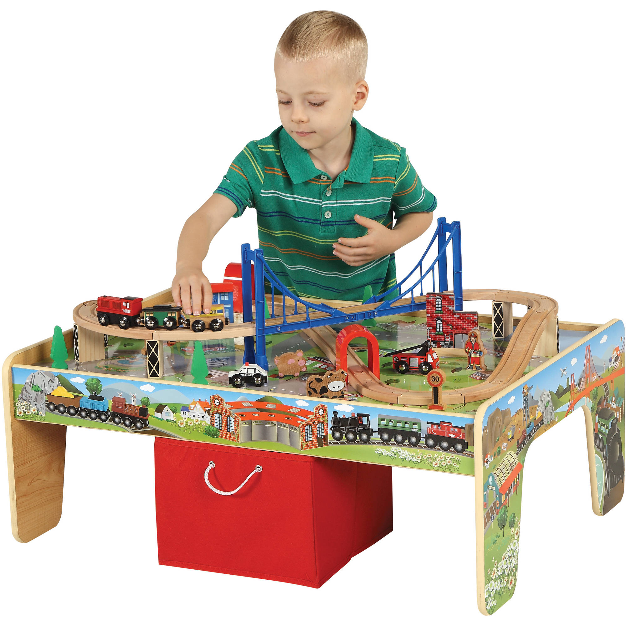 sc 1 st  Walmart & 50-Piece Train Set with 2-in-1 Activity Table - Walmart.com