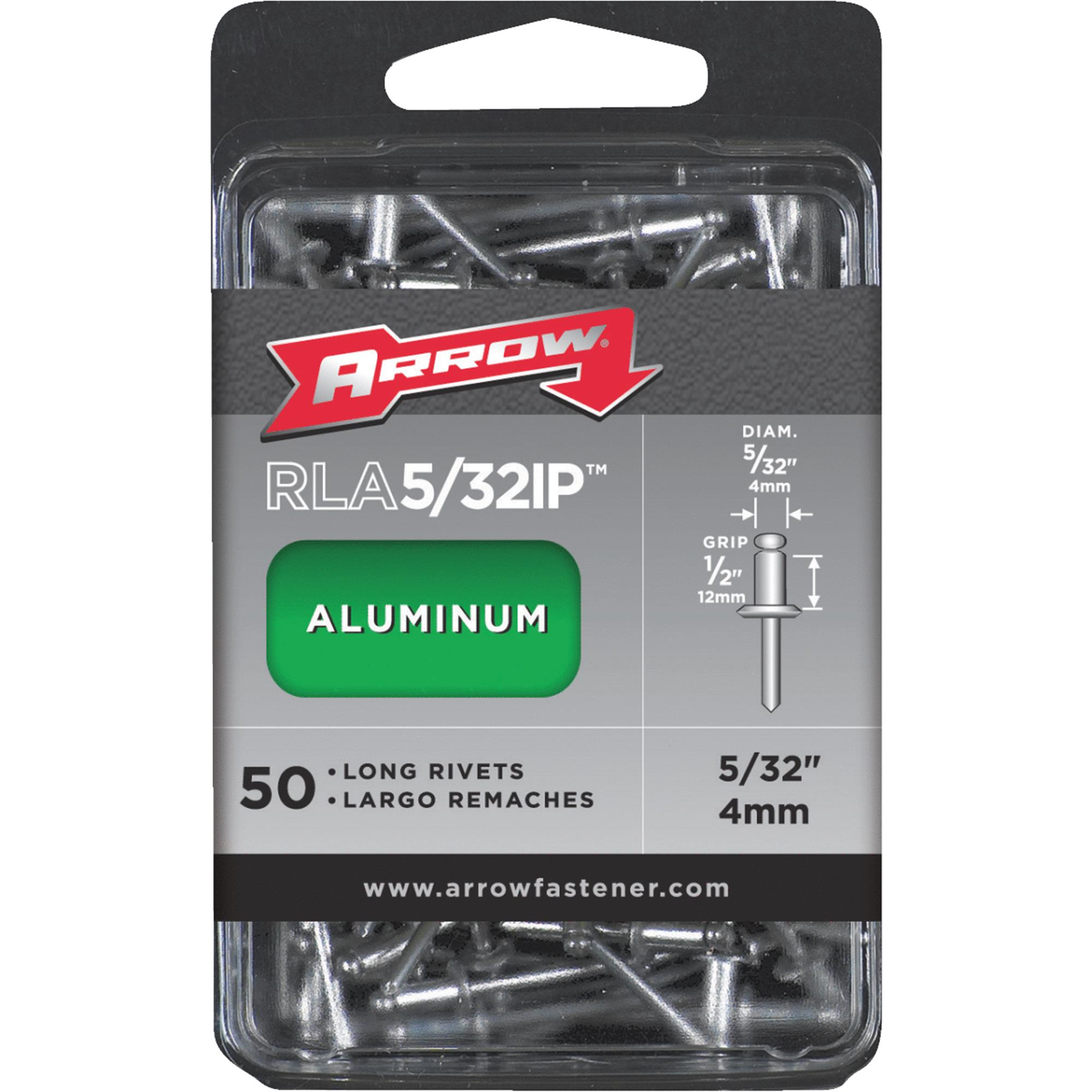 "Arrow 5/32"" Long Aluminum Rivets 50 Count"