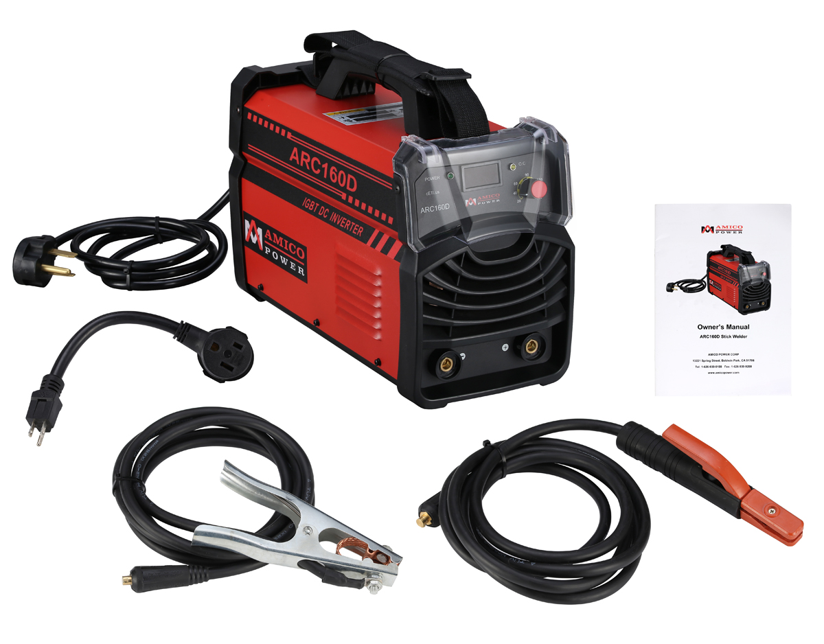 Click here to buy Amico Power Professional Stick MMA Arc Welder IGBT Welding Machine ARC-160D by Amico Power.
