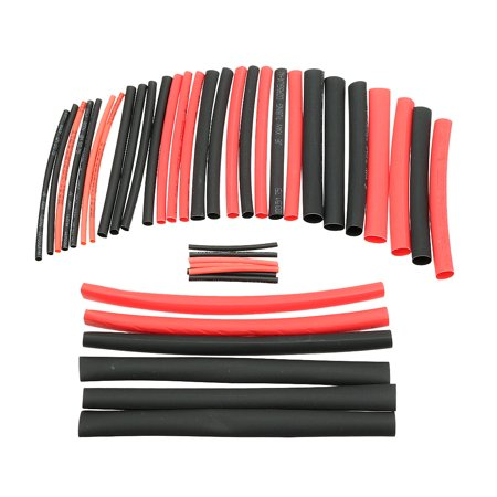42Pcs 21 Heat Shrink Tubing Tube Sleeving Wire Cable 6 Sizes Black Red