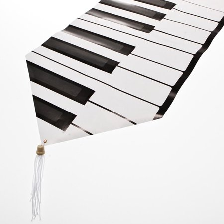 Beistle 57882 Printed Piano Keyboard Table Runner - Pack of 12