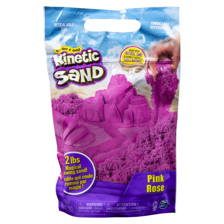 Kinetic Sand the Original Moldable Sensory Play Sand, Pink, 2 Pounds - Bulk Play Sand