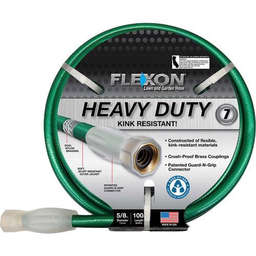 Flexon 100' Heavy-Duty Green Garden Hose by Flexon