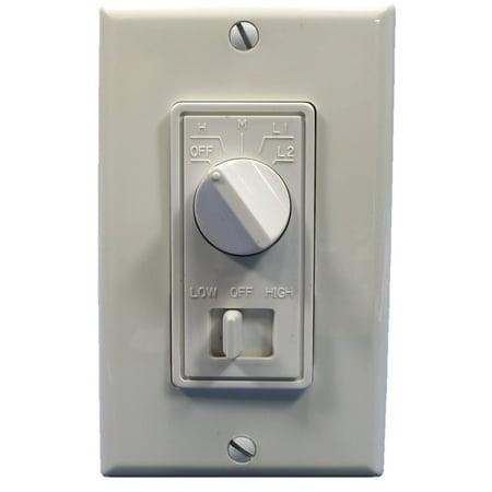 Dimmer Fan Speed Control (Leviton 832-6620-W Fan Speed and Fan Light Control -)