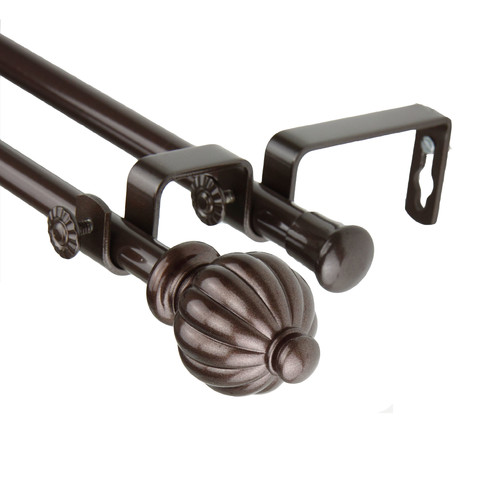 Rod Desyne Double Curtain Rod and Hardware Set