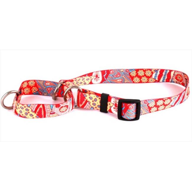 Yellow Dog Design M-BHPW100XS Bohemian Patchwork Martingale Collar - Extra Small