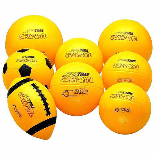 Sportime Super-Safe Rubber Volleyball, 7 Inches, Yellow