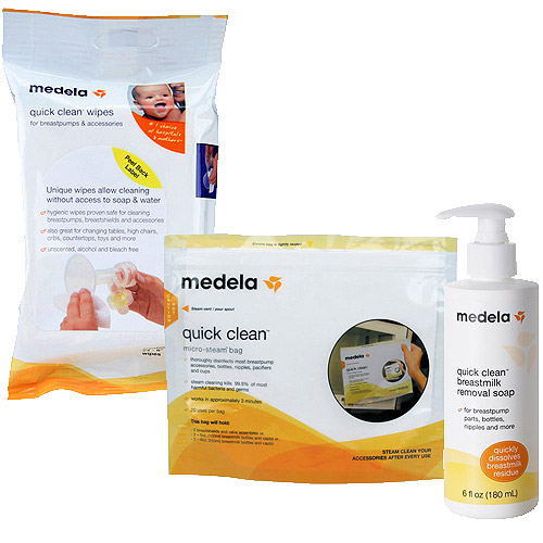 Medela Cleaning Solution Set wtih Bonus Micro-Steam Bags