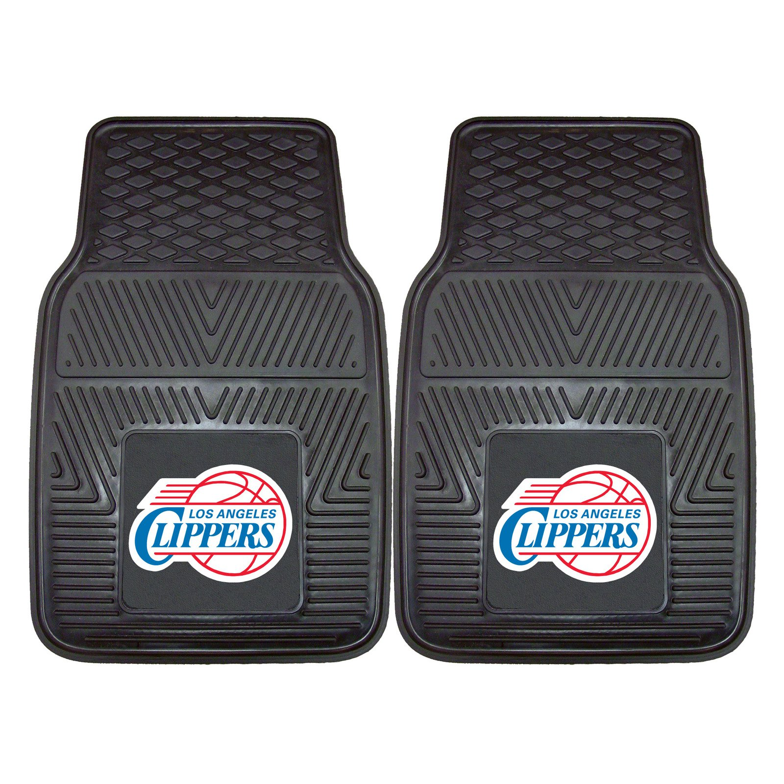 Los Angeles Clippers Heavy Duty Vinyl Car Mats - Set of 2